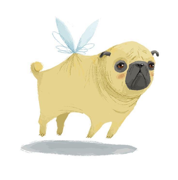 Ella Bailey Illustration: When Pugs Fly