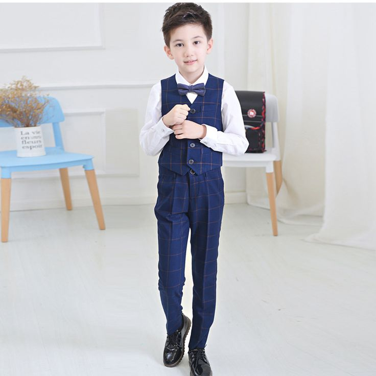 >> Click to Buy << 2017 Boys Plaid Vest Clothing Set Vest + pant + Shirt+Tie Children  Kids Wedding Prom Suits Costumes #Affiliate