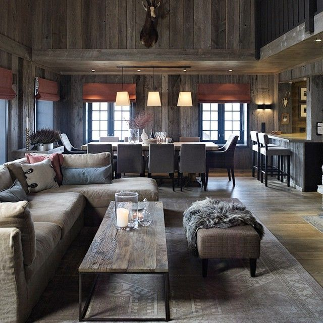 Best 25 chalet interior ideas on pinterest ski chalet decor chalet style - Deco style chalet moderne ...