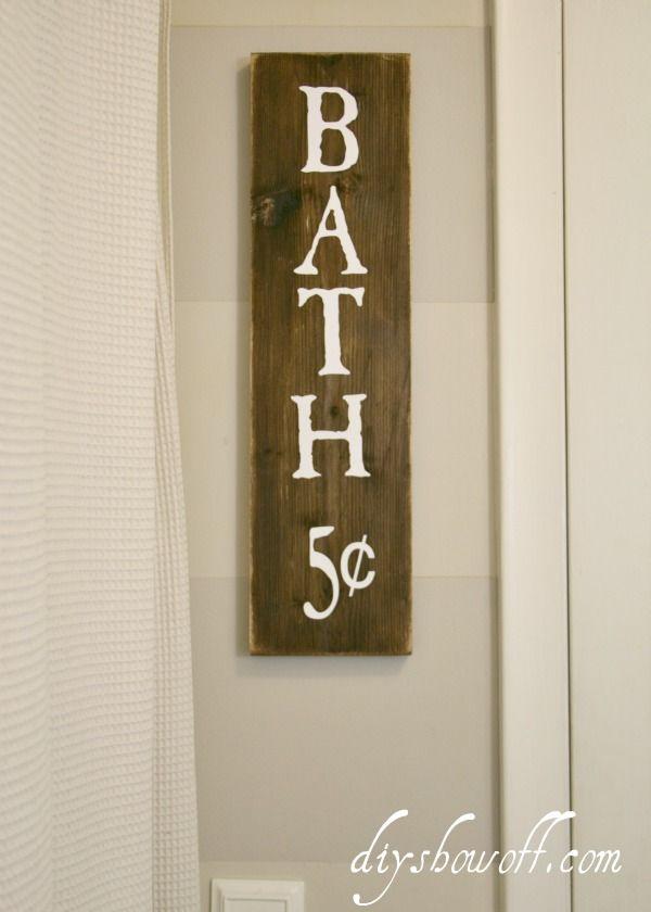 DIY Show Off  Bathroom Signs FunnyBathroom. Best 25  Bath sign ideas on Pinterest   Diy laundry room furniture