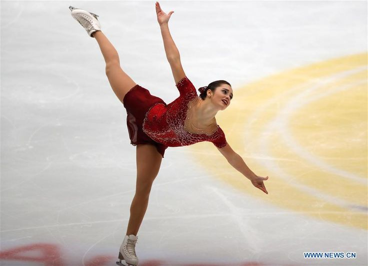 Canada's Kaetlyn Osmond competes during the ladies free dance at the Audi Cup of China ISU Grand Prix of Figure Skating 2016 in Beijing, capital of China, Nov. 19, 2016. (Xinhua/Ding Xu)