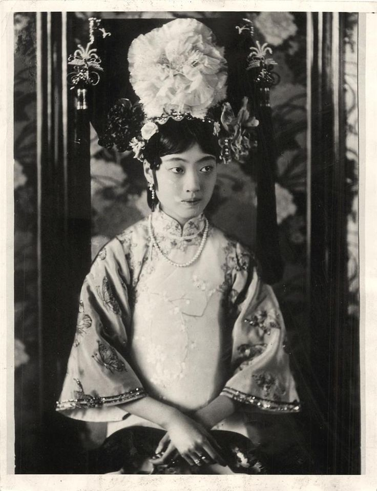 Lady Gobulo, Empress Xiaokemin, better known as Empress Wanrong, was the empress of Puyi, the last Emperor of China and final ruler of the Qing Dynasty. She became empress of the puppet state of Manchukuo when Puyi was installed as its nominal ruler during the Second Sino-Japanese War.