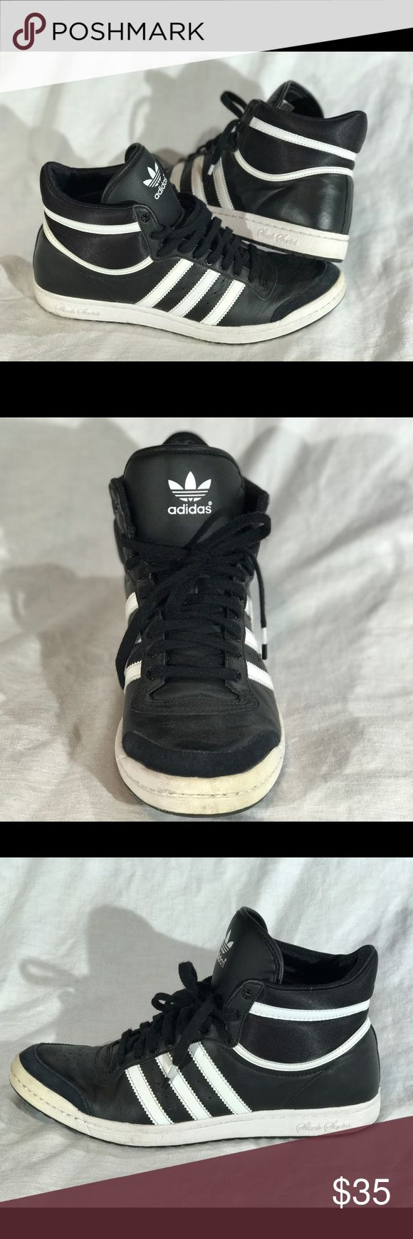 Adidas Sleek Series Hightop Sneakers Adidas Sleek Series Hightop Sneakers: size 9! Only worn a couple of times and are in great condition! i don't wear sneakers anymore so these need a new home because they're so cute & haven't been worn in a while! Adidas Shoes Sneakers