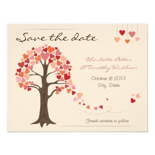 STD inspiration Herz baum, Save the date, Hochzeit