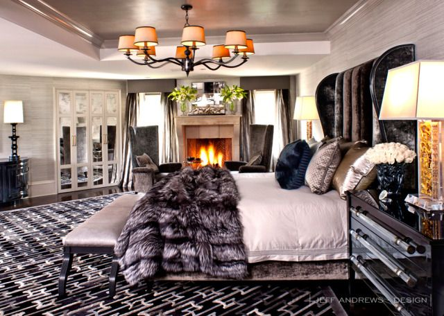 Jenner bedroom :) A touch of Luxe