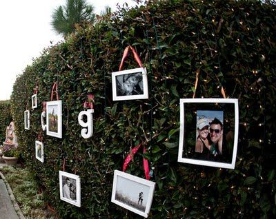 Cute Idea To Decorate A Backyard For Shower Or Engagement Party