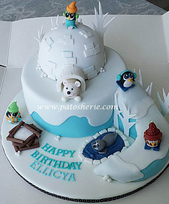 Winter Wonderland cake at Ski Dubai - by patosherie @ CakesDecor.com - cake decorating website