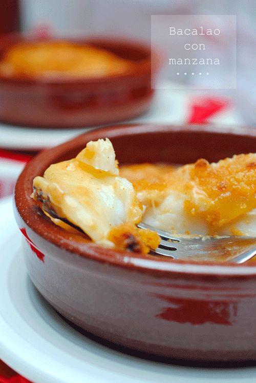 recetas de tía Alia: Bacalao con manzana