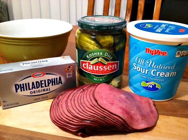 Cream Cheese Pickle Wrap Dip