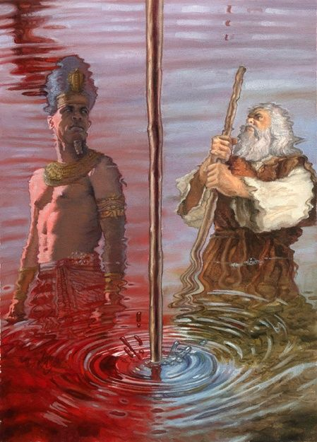 the nile turn to blood And blood will be in all the land of egypt, and in the trees and in the stones  23 and pharaoh turned and came into his house and did not pay.