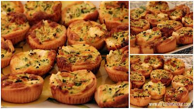 Mini quiche alle zucchine e caprino