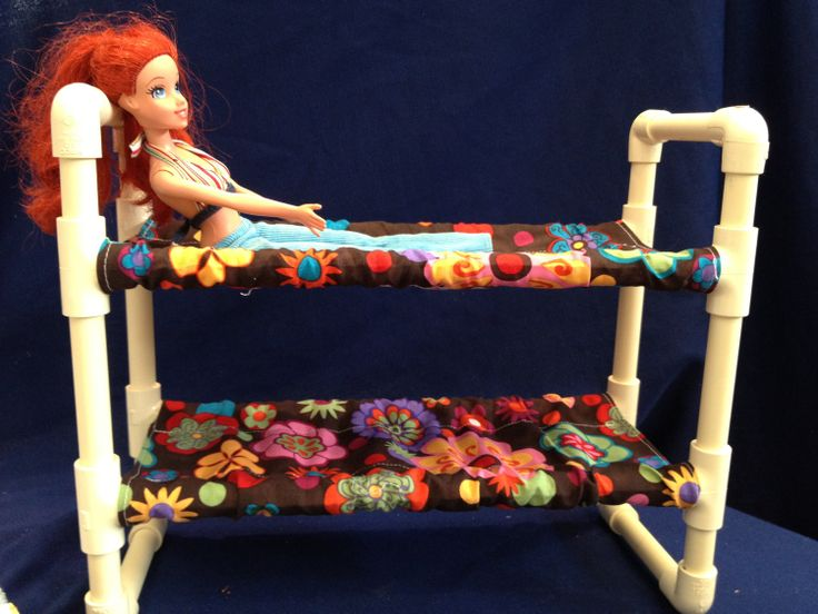 Things to duplicate.... PVC pipe doll bunk bed.