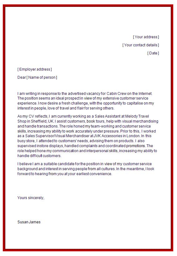 cover letter job application cabin crew create professional - Cover Letter For Cabin Crew