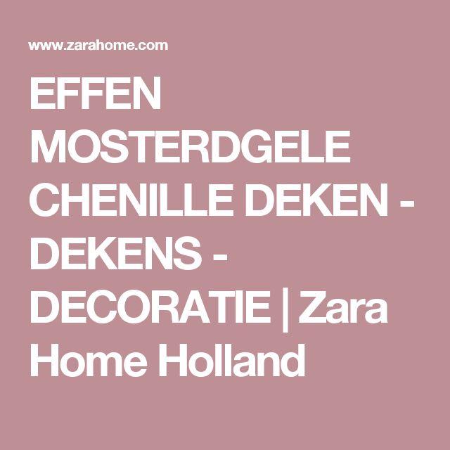 EFFEN MOSTERDGELE CHENILLE DEKEN - DEKENS - DECORATIE | Zara Home Holland