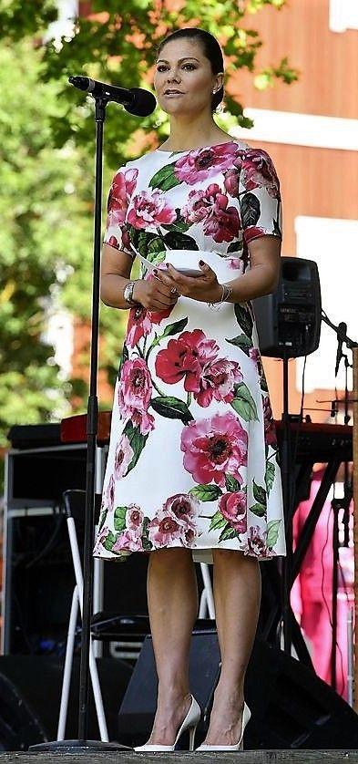 HRH Crown Princess Victoria of Sweden in Järfälla for National Day Celebrations - June 6, 2017