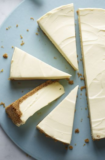 Nigella's white chocolate cheesecake is as easy as can be - no baking, and not too sweet.