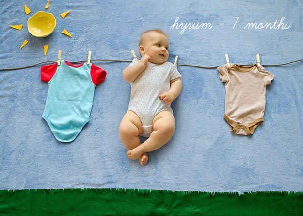 Dies sind die coolsten Möglichkeiten, das erste Jahr Ihres Babys zu fotografier…  – Baby
