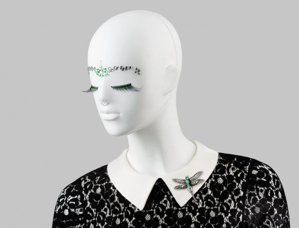 FUSION Collection by More Mannequins #FemaleMannequins #mask #bijoux #lace #eyelashes #crystals #dragonfly