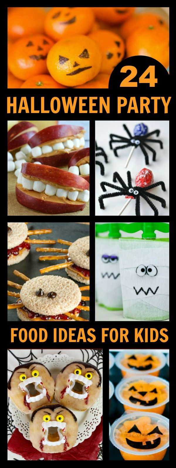 EASY & ADORABLE HALLOWEEN FOOD IDEAS FOR KIDS- great for class parties and…
