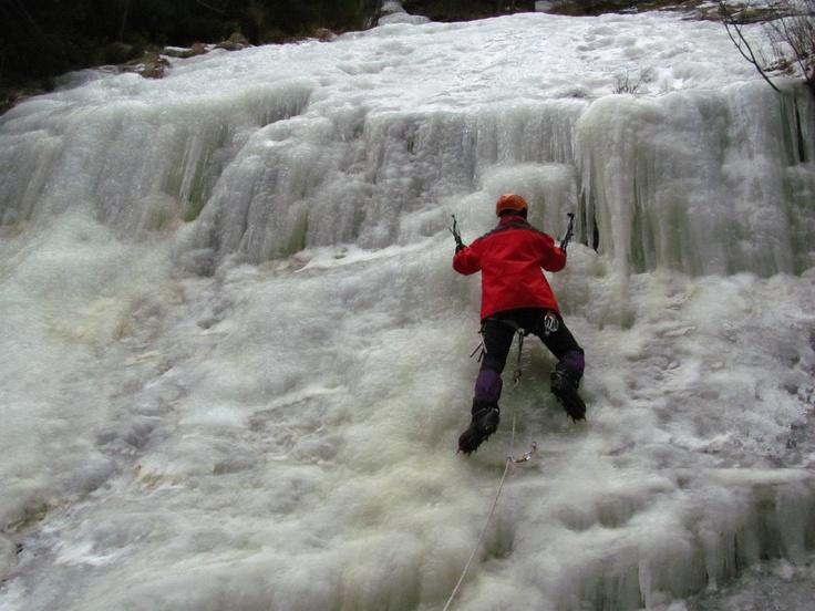 Ice wall climbing - Bicaz Gorge, Transylvania #greatwalker