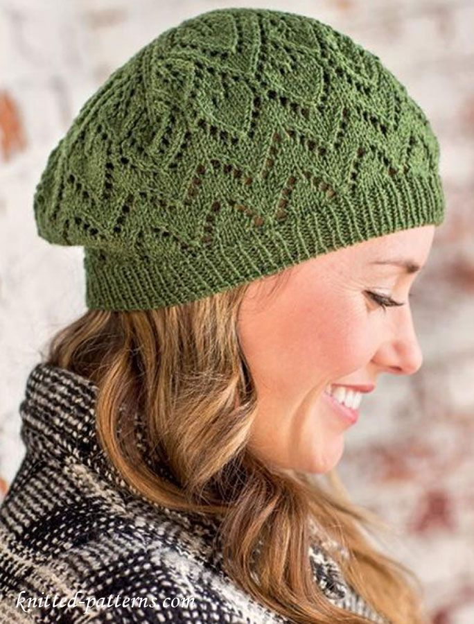 Knitting Pattern Lace Beret : 1000+ images about Knit Hats on Pinterest Cable, Ravelry and Beanie