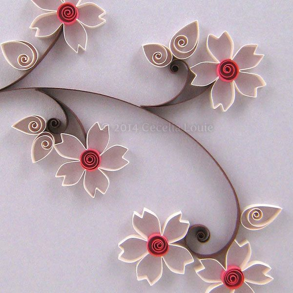 Lark Book: Quilled Cherry Blossom