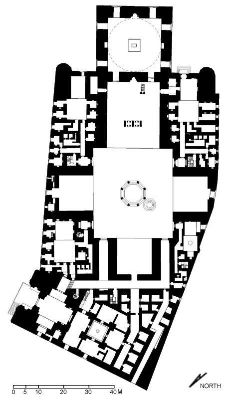 Masjid al-Sultan Hasan   Floor plan of funerary complex (after Meinecke)   Archnet