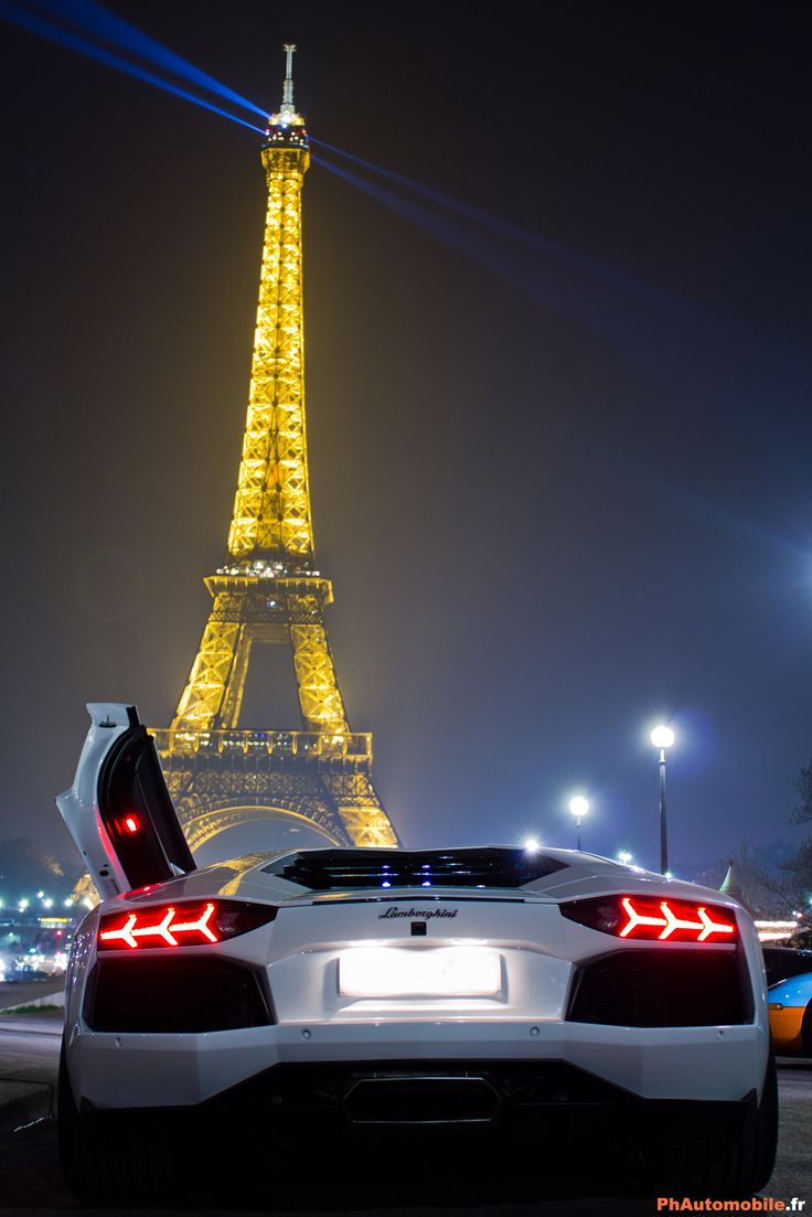 Forget the drive in movie and the popcorn....this is the only view I need!: Luxury, Paris, Sports Cars, Eiffel Towers, Riding, Cars, Vroom Vroom, Lamborghini Aventador, Dreams Cars