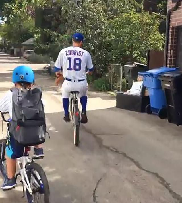 Ben Zobrist lived every 'Sandlot' fan's dream and biked to Wrigley in his…