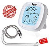#5: Sale! Best Touchscreen Oven Meat Thermometer & Timer Accurate Digital Grill Cooking Thermometer with Kitchen Timer 2 Stainless Steel Probes Great for Grilling BBQ Food Smoker Dad Birthday Men Idea