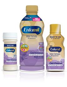 4.2(601 reviews) Enfamil® Gentles®: Enfamil Gentlease — #1 Pediatrician recommended brand for gassy and fussy babies - There is also Enfamil lactose free and Enfamil soy.