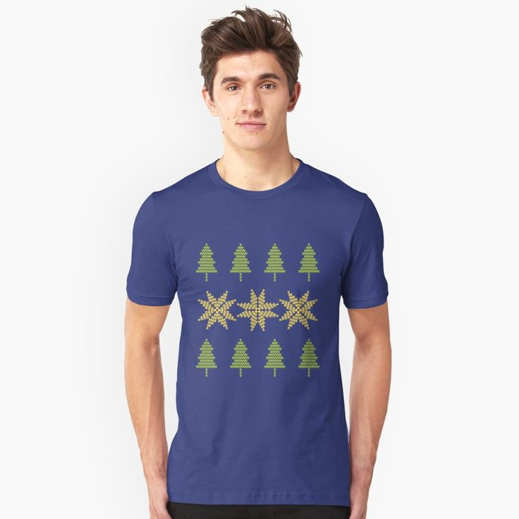 Knitted Xmas Unisex T-Shirt Front