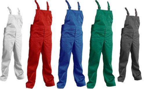 Red - New-Cotton-Blend-Bib-And-Brace-Overalls-Painters-Decorators-Work