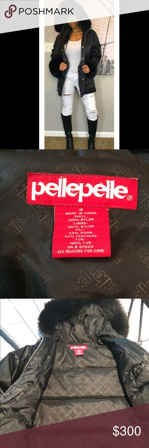 🎉HP! 🎉NEW AUTHENTIC PELLE PELLE WINTER COAT HOST PICK! 08/27/17 PRETTY, FLIRTY&GIRLY PARTY!RARE authentic PellePelle winter coat with real fur! Excellent condition, not a mark on it and fur is untouched. Fur can detach for easy care and maintenance. Pelle Pelle Jackets & Coats