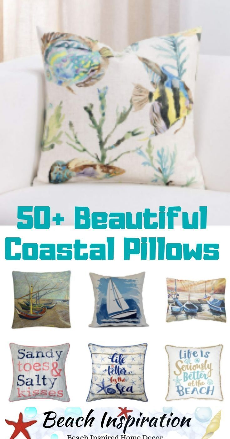 50 Decorative Coastal Throw Pillows For Living Rooms