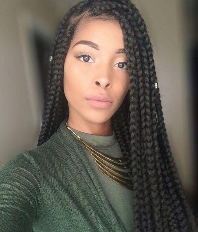 Best 25+ Medium box braids ideas on Pinterest   Medium ...