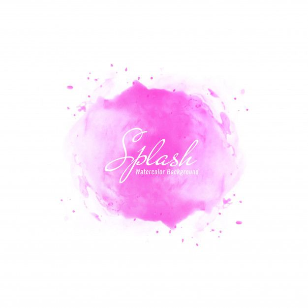 Download Abstract Pink Watercolor Splash Design Background For