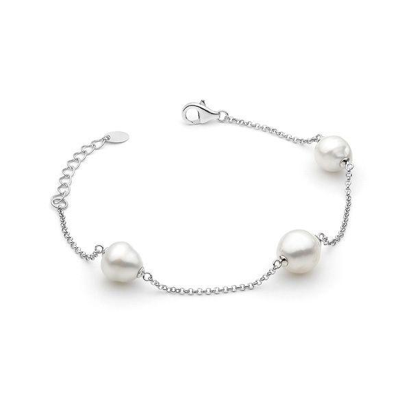 S/S South Sea 8-10mm chain bracelet 19cm.