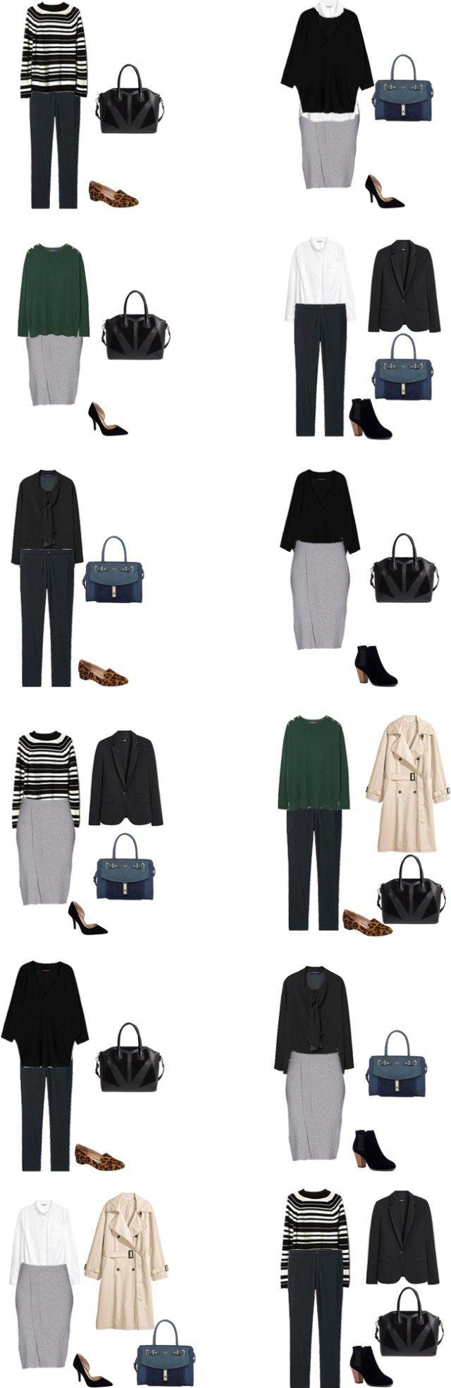 Back to Basics. Spring Starter Work Capsule Wardrobe 2017. Outfit Options. livelovesara