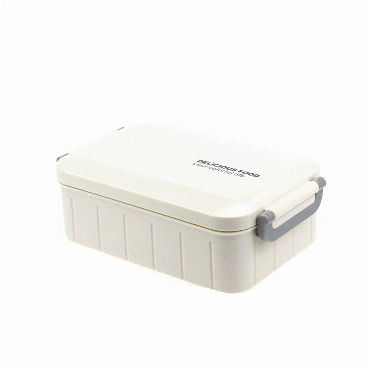 Купить товарЯпонский стиль Пластиковые Бенту Lunch Box Контейнеры Для Хранения продуктов, с ложкой, Микроволновая Печь и Мыть В Посудомоечной Машине, Открытый Портативный Бенто в категории Столовые сервизына AliExpress.