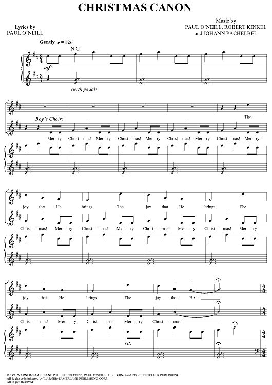 268 best piano lessons images on pinterest sheet music music christmas canon sheet music by trans siberian orchestra fandeluxe Images