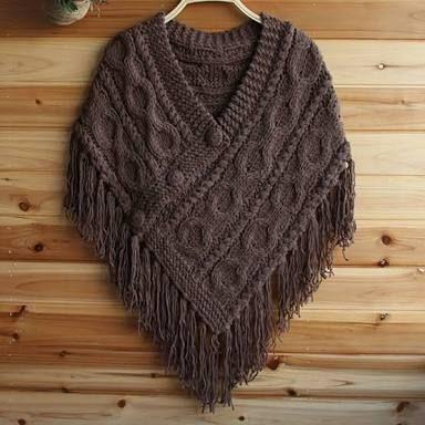 Risultati immagini per poncho tricot