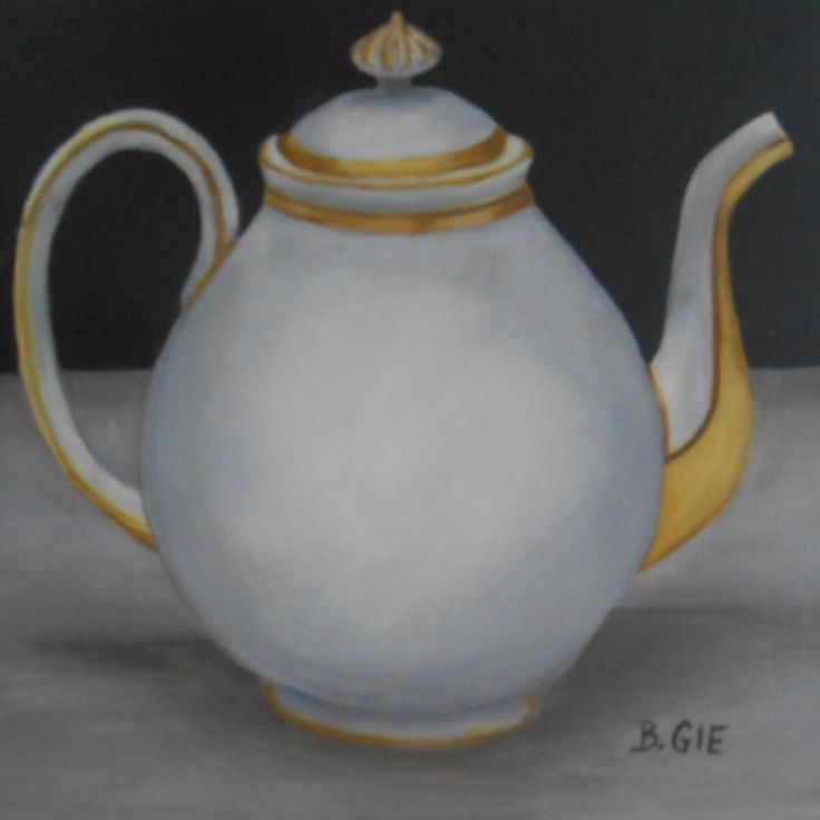 Teapot Collection painted by Bernadette