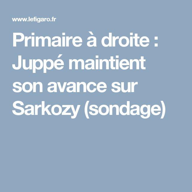 Primaire à droite : Juppé maintient son avance sur Sarkozy (sondage)