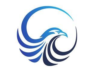 hawk logo,eagle symbol,bird icon media concept modern business vector design