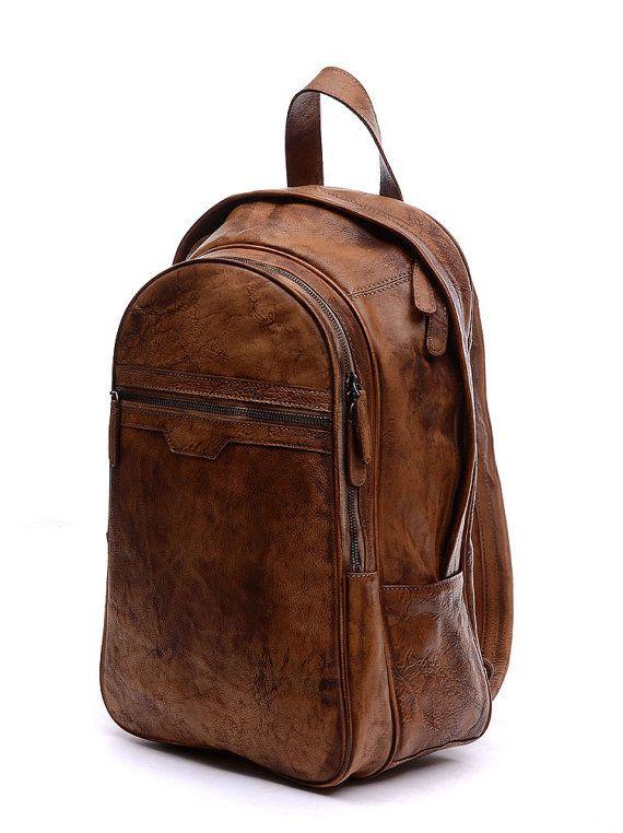 """15"""" Leather Backpack/Laptop bag/Messenger bag/men's Leather Backpack/Men Leather backpack/Shoulder bag/satchel/school backpack--"""