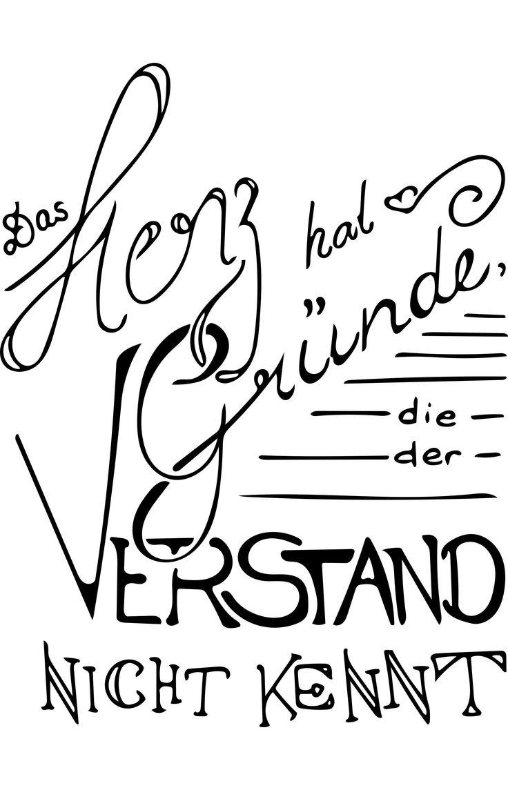 Zitate, Namen, Verse, Sprüche: handgeschrieben wie in der guten, alten Zeit vor den Grafikprogrammen