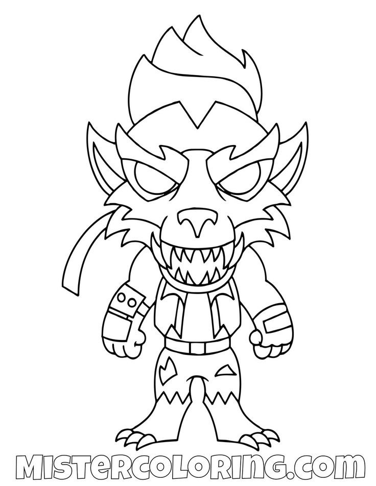 Free Dire Chibi Skin Fortnite Coloring Page For Kids in