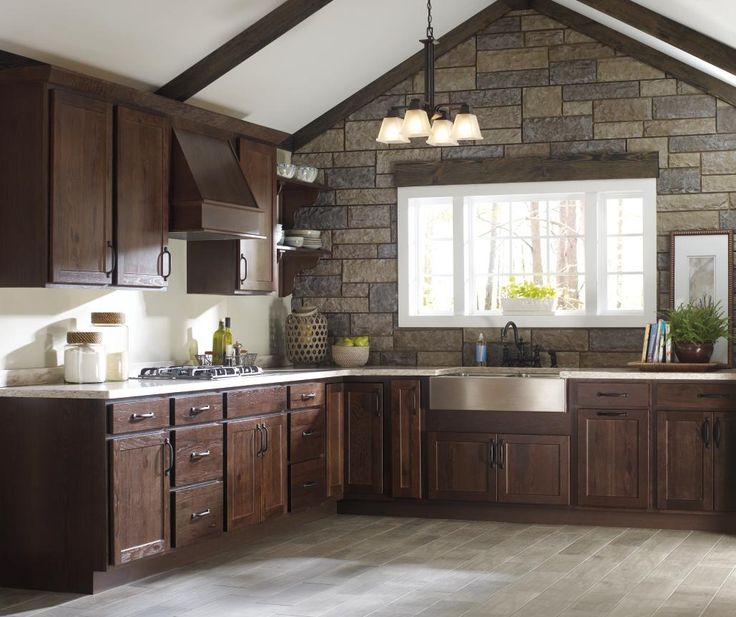 33 best images about rustic style cabinets on pinterest for Kitchen remodel keeping oak cabinets