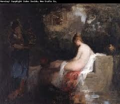 After the bath - Nicolae Grigorescu, romanian impressionist painter